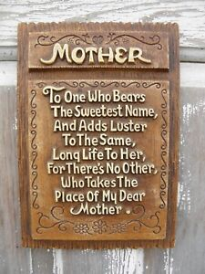 Rustic MOTHER Plaque Wall Décor Mother's Day Gift