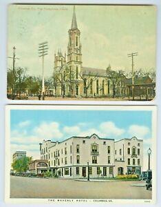 Columbus GA The First Presbyterian Church & The Waverly Hotel Collector's Set