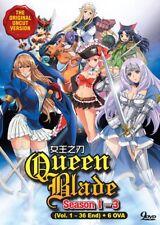 DVD Anime UNCUT Queens Blade Complete Season 1-3 Series (1-36 + OVA) English Dub