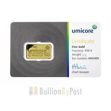 More details for umicore 5 gram gold bar