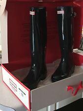 NEW Hunter Women's Original Tall Gloss Rain Boots Ocean- Size 8 (US)