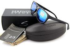 POLARIZED NEW Genuine SERENGETI TOMMASO Satin Black 555 NM Blue Sunglasses 8283