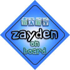 Baby Zayden On Board Novelty Child Car Sign Boy
