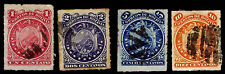 1887 Bolivia #24-27 11 Stars - Rouletted - Used - Vf - Cv$22.00 (Esp#2279)