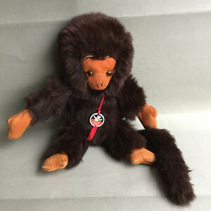 Vintage Rare MUTZLI FELPA REAL FUR and LEATHER  MONKEY  ZURICH SWITZERLAND 10''