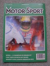 Motor Sport (Dec 1991) Mercedes 300SL-24, Clio Elf UK test,Japan & Australia GPs