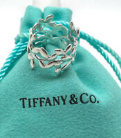 TIFFANY & CO PALOMA PICASSO Olive Leaf Band Ring in Sterling Silver Size 6.5