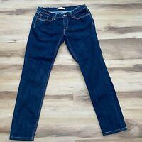 Levis 524 Womens Jeans 15M Blue Too Superlow Skinny Stretch Dark Wash