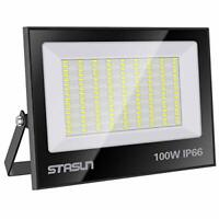 STASUN 100W LED Floodlight IP66 Waterproof Outdoor Security Light, 10000LM,