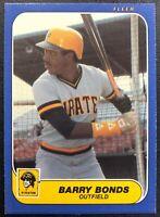 BARRY BONDS 1986 FLEER UPDATE ROOKIE CARD #U-14
