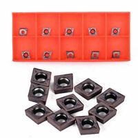 10PCS/SET CCMT060204 Carbide Inserts CCMT0602 Fit For Lathe Turning Tools Holder