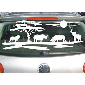 Aufkleber Landschaft  Afrika Tiere Affenbrotbaum Savanne Wüste Safari Sticker