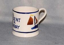 Bridgewater England Spongeware A Present for a Good Boy Pottery Child's Mug