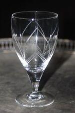 Série de 6 verres à pied en cristal ciselé - très fin - superbes !