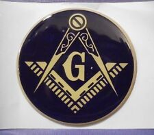 MASON MASONIC LODGE TEMPLE FULL COLOR 2 INCH EPOXY DOME CAR DECAL STICKER EMBLEM