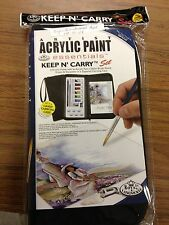 Acrylic paint and brush set with carrying case by Royal