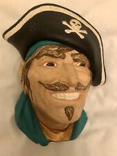 Chalkware Hanging Face - Pirate