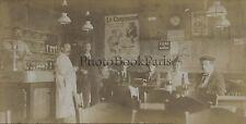 Au café France Le ConsomméPhoto amateur vintage citrate 1900