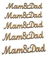MDF Wooden Mam and Dad wording, Mam and Dad words, Mam and dad gift ideas