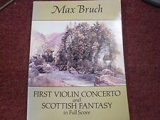 Max Bruch First Violin Concerto Scottish Fantasy Full Score Orchestra Music Book