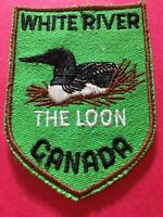 Patch, Loon, White River Canada Vintage Sew On Badge PB4