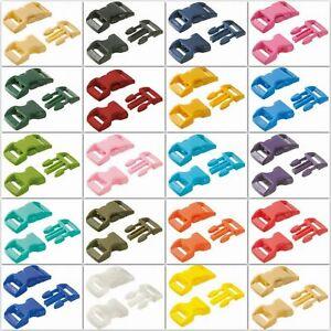 10 Pack Side Release Plastic Mini Buckles-Bracelets Dog Collar Webbing Belts