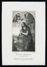 santino incisione 1800 S.MARIA MADDALENA