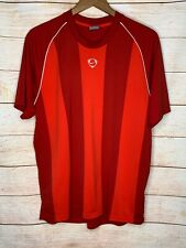 Nike Mens Large Striped Soccer Jersey Shirt Red