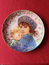 """Edna Hibel Mother's Day 8-1/2"""" Collector Plate 1987 """"Catherine and Heather"""""""
