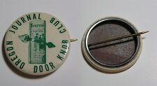 "OREGON JOURNAL DOOR KNOB CLUB  c. 1940s 1.5"" Dia Pinback Newspaper SCARCE"
