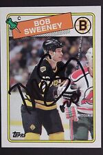BOB SWEENEY Bruins Autograph 1988 Topps #134 Signed Hockey Card JSA 16H