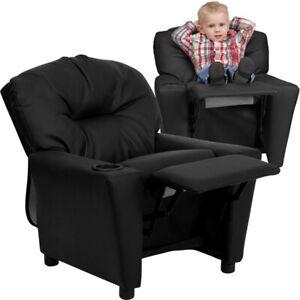 Flash Furniture Black Kids Recliner, Black - BT-7950-KID-BK-LEA-GG