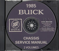 1985 Buick Shop Manual CD Grand National Regal Riviera LeSabre Electra Century