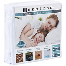 Mattress Protector Bed Bug Water Proof Six Sides Zippered Encasement Bed Cover