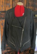 """CROSSROADS"" LADIES PLUS SIZE PLEATHER JACKET NEAR NEW SIZE 22"
