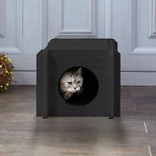 Way Basics Eco Friendly Cat House Condo - Non-Toxic, Formaldehyde Free, Black