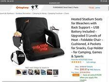 5 Reclining Positions Tiltable Stadium Seat Concert Competition Bleacher Chair1