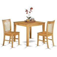 3 Pc small kitchen table set - square Kitchen Table and 2 dinette chairs NEW