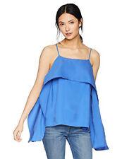c5bf12a3cfe6 Halston Heritage Women's Sleeveless Cami Flowy Drape Top XS Sphere Blu 325.0