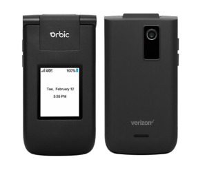 Orbic Journey V Flip Basic Phone PREPAID ONLY - Black BRAND NEW IN BOX Verizon