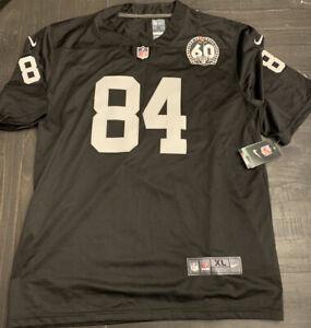 Nike Vapor NFL Size XL Raiders Antonio Brown #84 60th Anniversary Jersey *A