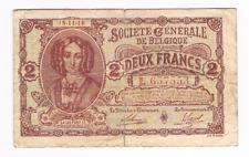 2 Frank/Franc  type   Generale Maatschappij     15.11.1916        Morin 6