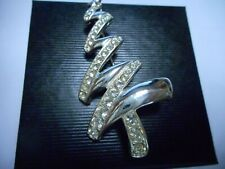 Brooch With Crystal Signed Cookie Lee New listing Wow Vintage Christmas Tree Pin /