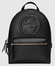 88134ced2 Authentic GUCCI Soho Black Calf Leather Chain Backpack - Brand New