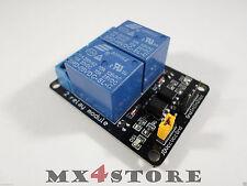 5v DC 230v AC Relay relè Modulo 2 canale Channel con optokoppler Arduino 152