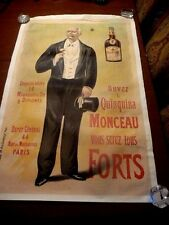 Original Vintage French Alcohol Poster for Quinquina Monceau by Oge 1896