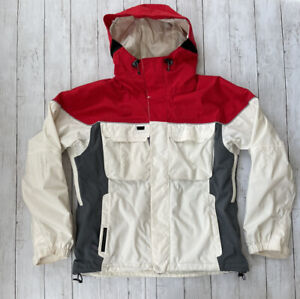 Burton Tempest Women's Size M Snowboard Ski Jacket Red & White Hooded - Lined