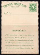 Uruguay, 1883, unused 3c Tarjeta Epistolar