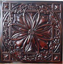 PL10 Faux tin aged red wood ceiling design cafe store bar decor panel 10tile/lot