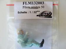 LE MANS MINIATURE DRIVER FIGURE  50'S PILOTE ANNEES FLM132003 1:32 SLOT BNIB